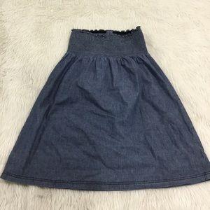 Mossimo Supply Co. Dresses - Mossimo blue denim strapless summer dress